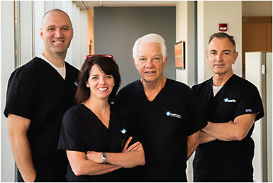 From Left to right: Marc A. Richardson, MD; L. Brannon Aden, MD; William M. Aden, MD; Christopher C. Evans, OD.